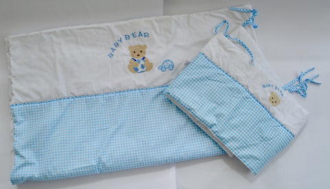 Cot set (Duvet and cot bumper) - Learning steps