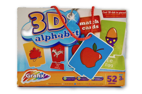 3D alphabet match cards - Learning steps