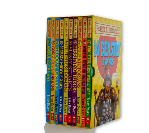 Horrible Histories boxset of 10 beastly books - Learning steps