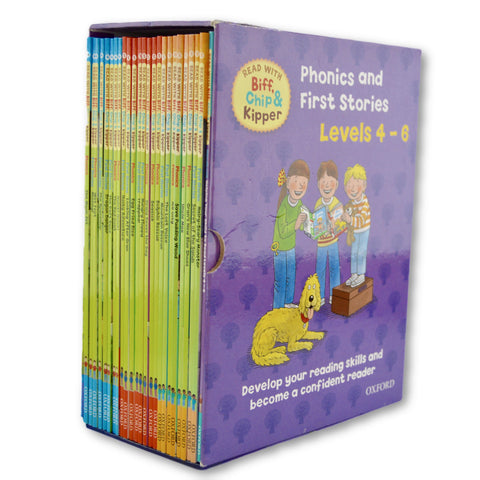 First stories Phonics Box set (level 4-6) - Learning steps