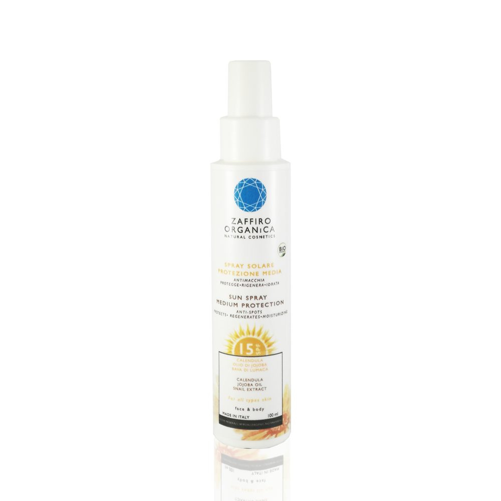 Bio SPF 15 Solar Spray - Anti Spots, protection, hydration for face and body - 100ml
