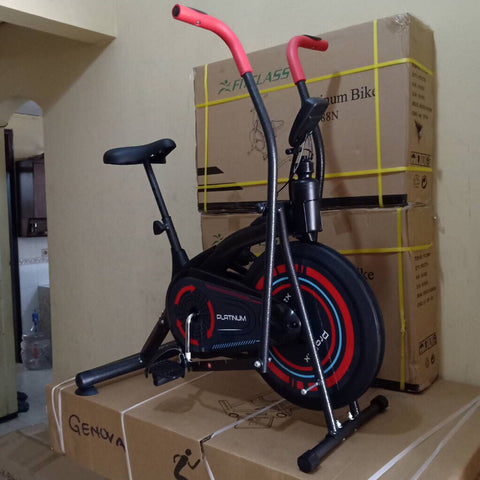 Spinning Bike Sepeda Statis Platinum Ski Home Gym Total Fitness G