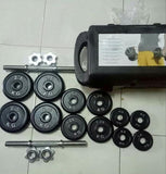 Dumbel Barbel Dumble Plat Hitam Set 20 Kg Bonus Box Original - Nyari.id