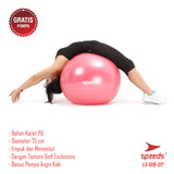 SPEEDS Anti Burst Gym Ball 75cm LX019-7 Tebal Ori Bonus Hand Pump - Nyari.id