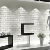 Wallpaper 3D Foam Batu Bata Modern 70X77 Wall Sticker Bagus