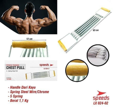 Fitness Chest Expander Exercise Pull Spring Gym Dada Speeds LX 024-02 - Nyari.id