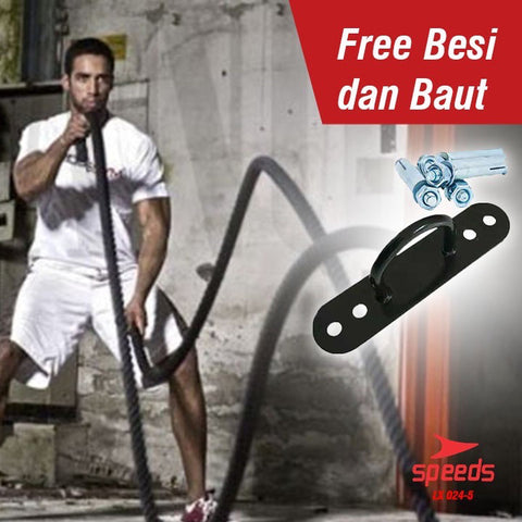 Battle Rope 15 Meter Speeds/Tali Fitness gym Battling ropes GYM LX 024-7 - Nyari.id