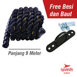 Battle Rope 9 Meter Speeds/Tali fitness Battling Ropes GYM 024-5 - Nyari.id