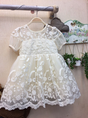 Dress Flower - White