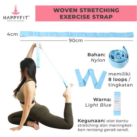 Happyfit Woven Stretching Exercise Strap ORIGINAL