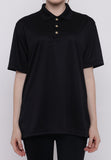 Hitscore Kaos Polo Shirt Short Sleeve Black - Nyari.id