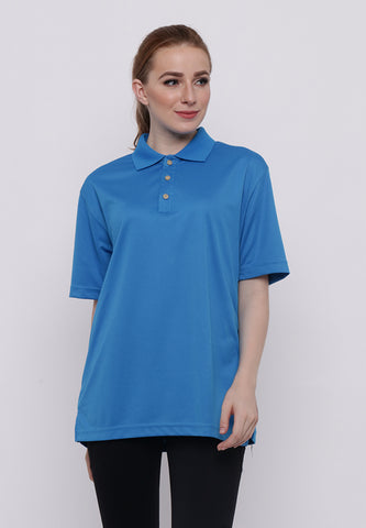 Hitscore Kaos Polo Shirt Short Sleeve Blue - Nyari.id