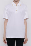 Hitscore Exclusive Kaos Polo Shirt Striped Collar Short Sleeve White - Nyari.id