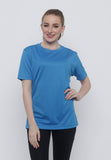 Hitscore Kaos Oblong T-Shirt Short Sleeve Blue - Nyari.id