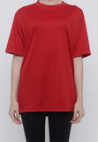 Hitscore Kaos Oblong T-Shirt Short Sleeve Red
