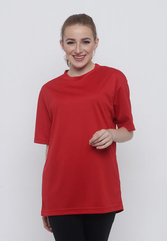 Hitscore Kaos Oblong T-Shirt Short Sleeve Red - Nyari.id