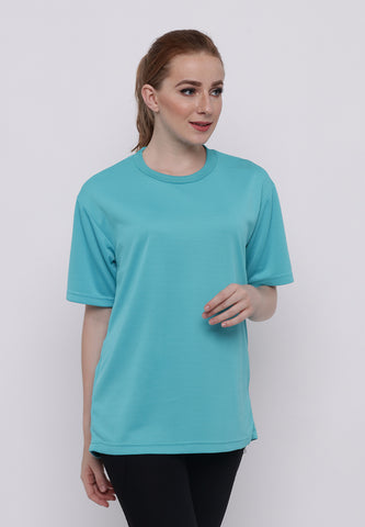 Hitscore Kaos Oblong T-Shirt Short Sleeve Light Blue - Nyari.id