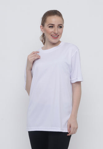 Hitscore Kaos Oblong T-Shirt Short Sleeve White