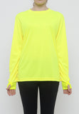 Hitscore Kaos Oblong T-Shirt Long Sleeve Yellow - Nyari.id