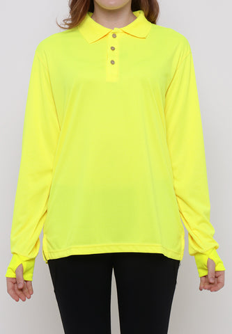 Hitscore Kaos Polo Shirt Long Sleeve Light Green