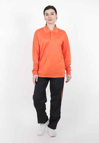Hitscore Exclusive Polo Lengan Panjang Orange Atasan