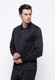 Hitscore Kaos Polo Shirt Long Sleeve Black - Nyari.id