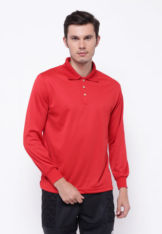 Hitscore Kaos Polo Shirt Long Sleeve Red - Nyari.id