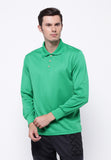 Hitscore Kaos Polo Shirt Long Sleeve Green - Nyari.id