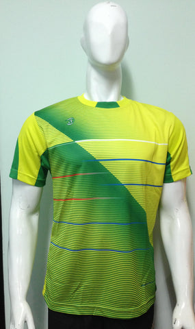 Kaos Print Cool Fit Yannick - Yellow Green - Nyari.id