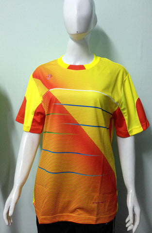 Kaos Print Cool Fit Yannick - Yellow Orange