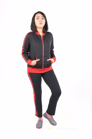 Training Set Angel Fashion Wanita Black - Red - Nyari.id