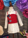 Kids Set Shirt and Butterfly Red Vest - Nyari.id