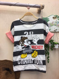 Kids Tshirt Mickey White Black