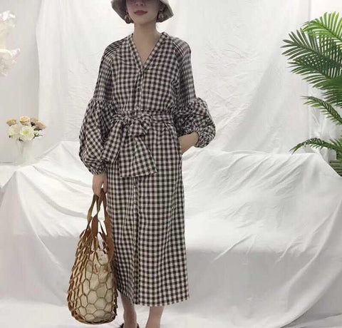 Lady Long Dress Brown - Nyari.id