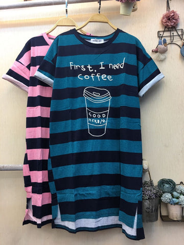 Kaos Wanita Long Dress I Need Coffee - Nyari.id