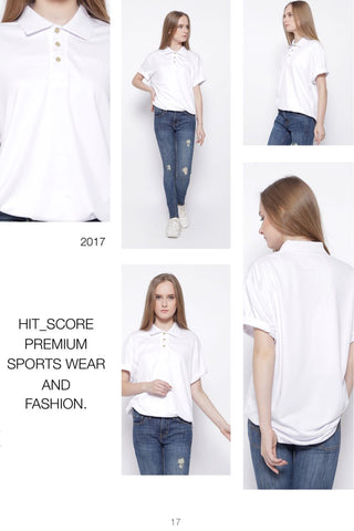 Hitscore Polo Shirt Short Sleeve White