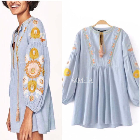 Top Daisy Blue