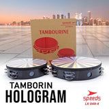 Tamborin 10 Inch + 8 Inch (2 pcs) Double Krecekan Speeds LX 049-4