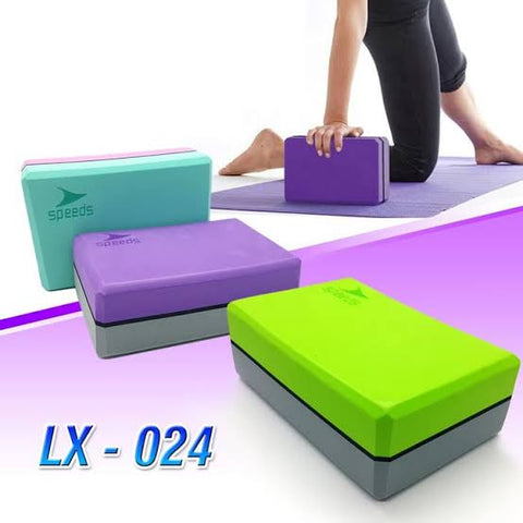 BALOK YOGA /YOGA BRICK/YOGA BLOCK SPEEDS KOMBINASI 2 WARNA - Nyari.id