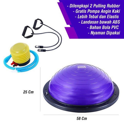 Bosu Ball Balance Step Trainer Bola Yoga Fitness Balancing Step - Nyari.id