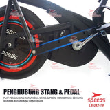 Sepeda Statis Platinum Spinning Air Bike Home Fitness Speeds LX 042-19