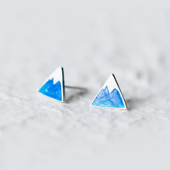 Blue Mountain Stud Earrings