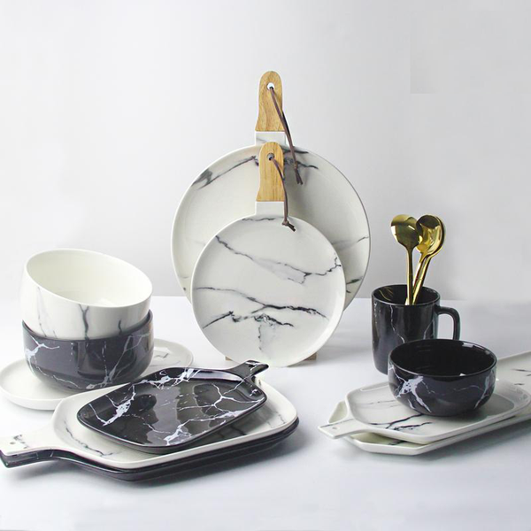 Marble Design Ceramic Tray - Tableware - wantalo.com