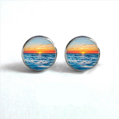 Sunset on the Beach Stud Earrings