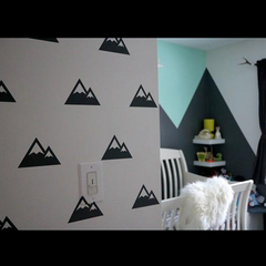 Mountain Pattern Wall Sticker
