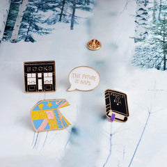 Bookstore and Comic Enamel Pins