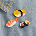 Sushi Enamel Pins Set