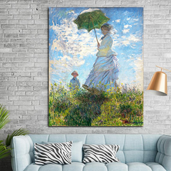 Woman with a Parasol, Painting