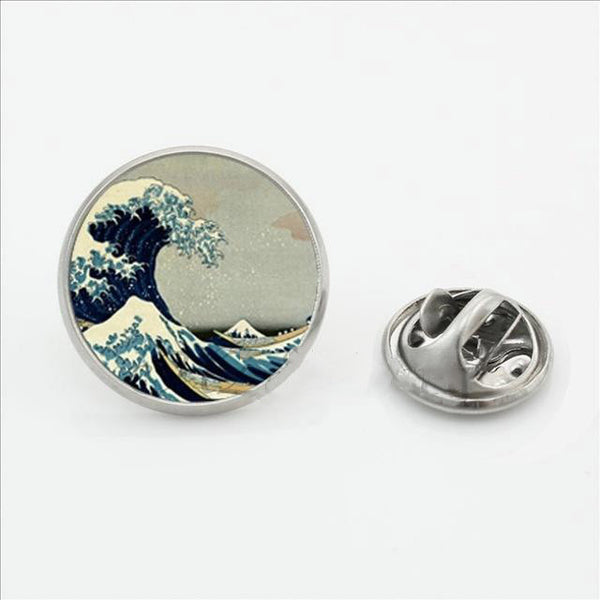 The Great Wave off Kanagawa Pin-Pins & Patches-Wantalo