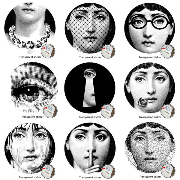 Fornasetti Wall Decals-Wall Stickers-Wantalo